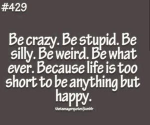 happy, life, and crazy image