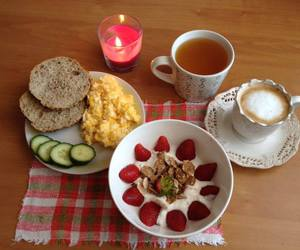 breakfast, brunch, and candle image