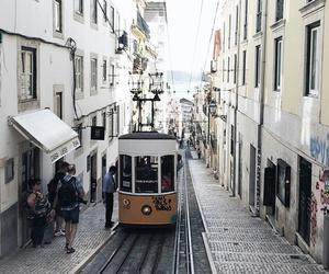 city, travel, and lisbon image