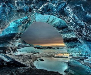 nature, ice, and blue image