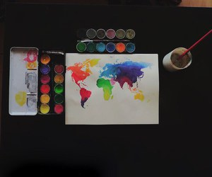art, world, and colorful image