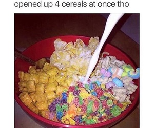 funny, cereal, and food image