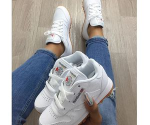 reebok, sneakers, and white image
