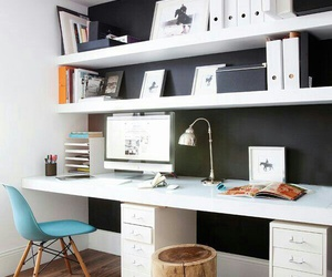 desk, interior, and office image