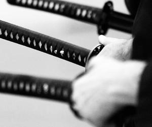 blackandwhite and samurai image