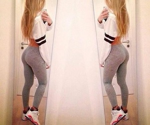 butt, fitness, and girls image