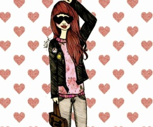 drawing, fashion, and heart image