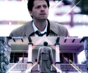 angels, bobby, and dean winchester image
