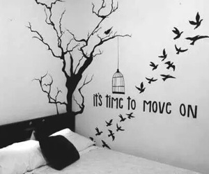 bed, tumblr rooms, and birds image