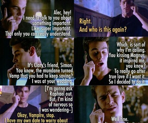 funny, alec lightwood, and simon lewis image