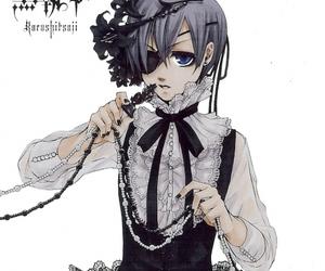 black, black butler, and butler image