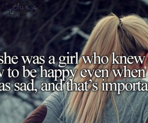 girl, happy, and sad image