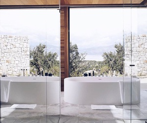 architecture, bathroom, and luxury bathroom image