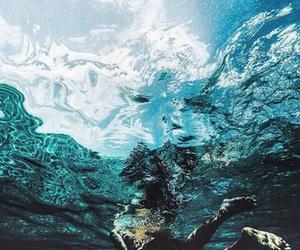 black, blue, and ocean image