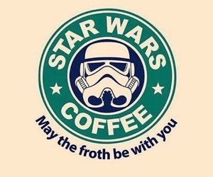 wallpaper, star wars, and starbucks image