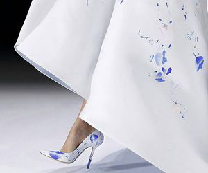 shoes, dress, and runway image