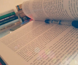 book, exam, and pen image