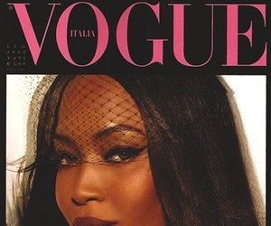 Naomi Campbell, model, and vogue image