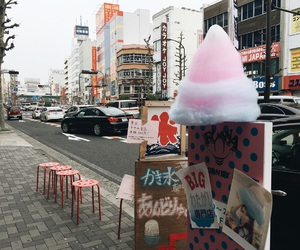candy floss, cotton candy, and japan image