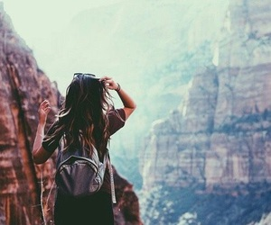 adventure, mountains, and travel image