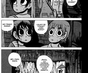 comic, scott pilgrim, and ramona flowers image
