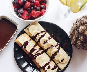 banana, chocolate, and fashion image
