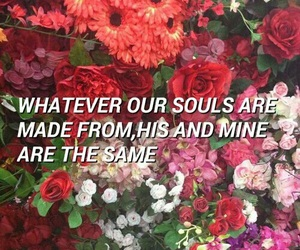flowers, grunge, and quote image