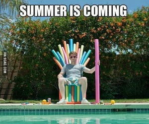summer, game of thrones, and pool image