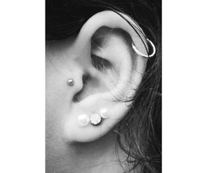 ear, hair, and piercing image