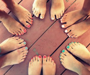 friendship, nails, and summer image