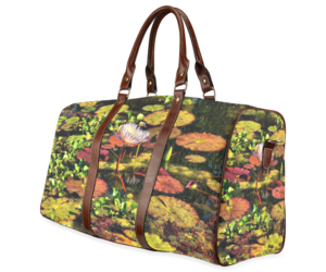 bag, water lilies, and for women image
