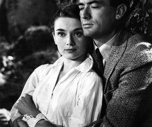 audrey hepburn, roman holiday, and gregory peck image