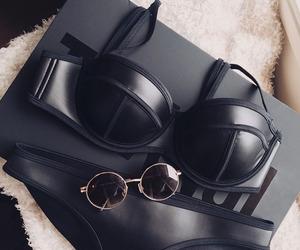 black, triangl, and bikini image
