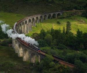 train, scotland, and harry potter image