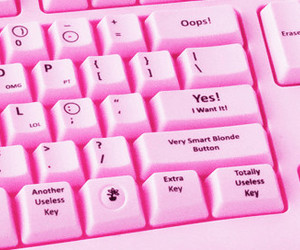 pink, keyboard, and computer image