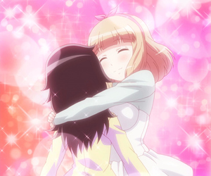 anime, anime girl, and hug image