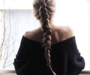 hair, fashion, and braid image