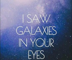 galaxy, eyes, and wallpaper image
