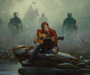 the last of us, ellie, and guitar image