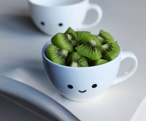 kiwi, cute, and cup image