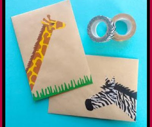safari, washi tape, and homemade gifts image