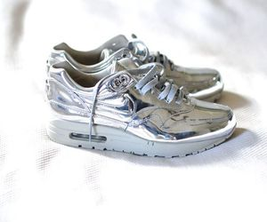 nike, silver, and fashion image