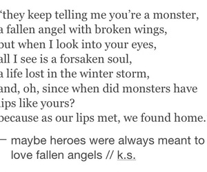angel, broken, and couples image