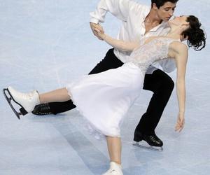figure skating, grace, and ice skating image