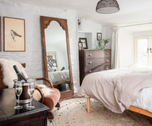 bed, bedroom, and deco image