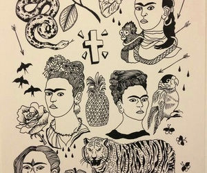 artist, beautiful, and frida kahlo image