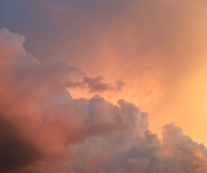 sky, clouds, and sunset image