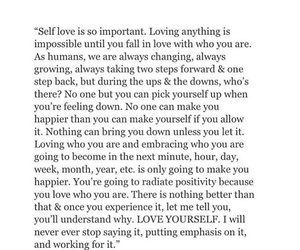 positive, quote, and self love image