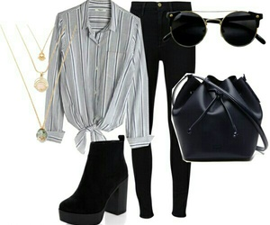 Polyvore and black image