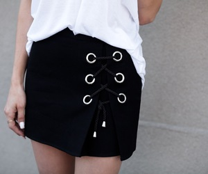 black and white, fashionlush, and street style image